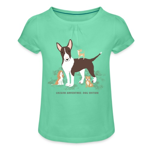 Dog edition - Kids - Girl's T-Shirt with Ruffles
