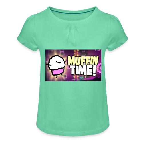 Its Muffin Time 2 - Mädchen-T-Shirt mit Raffungen