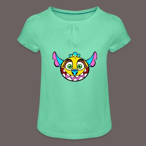 SCOOLY - T-shirt à fronces au col Fille