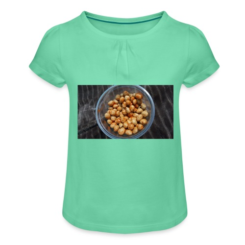 Cacahuate - Camiseta para niña con drapeado
