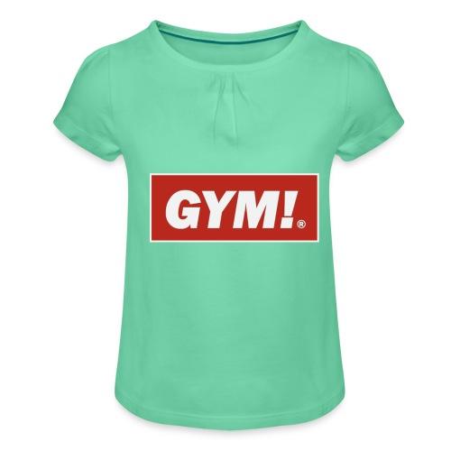 gimnasio - Camiseta para niña con drapeado