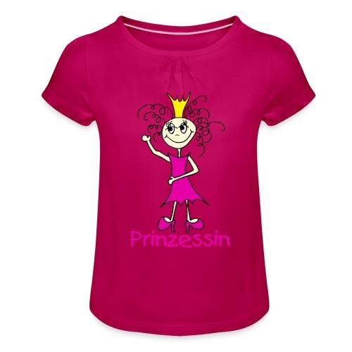 Prinzessin - Mädchen-T-Shirt mit Raffungen