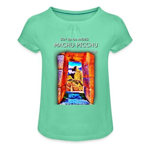 SOJA de los ANDES - Machu Picchu I. - Mädchen-T-Shirt mit Raffungen