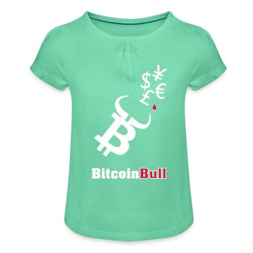 BitcoinBull - Camiseta para niña con drapeado
