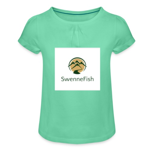 Logo 25 - Meisjes-T-shirt met plooien