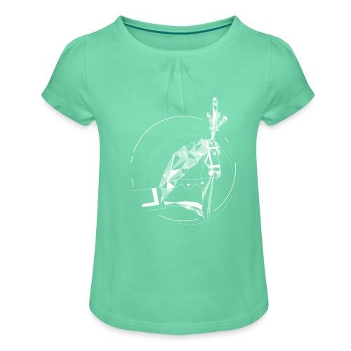 Ros Beiaard - wit - Dendermonde - T-shirt à fronces au col Fille