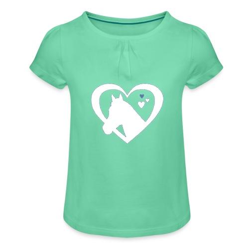 horse heart - Meisjes-T-shirt met plooien