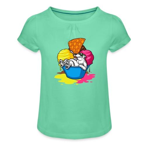 eisbär - Mädchen-T-Shirt mit Raffungen