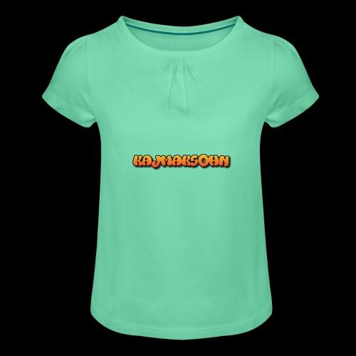 KajmakSohn - Mädchen-T-Shirt mit Raffungen