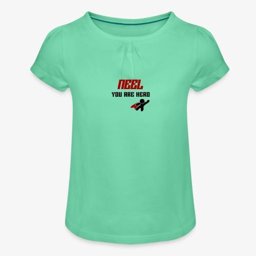 NEEL You Are Hero - Koszulka dziewczęca z marszczeniami