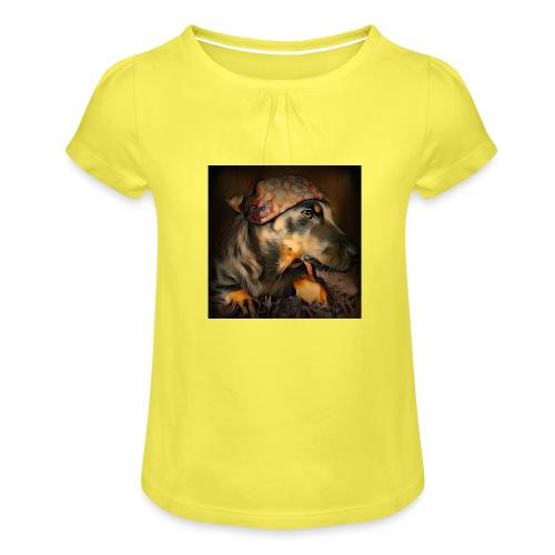 Biker Pinia - Mädchen-T-Shirt mit Raffungen