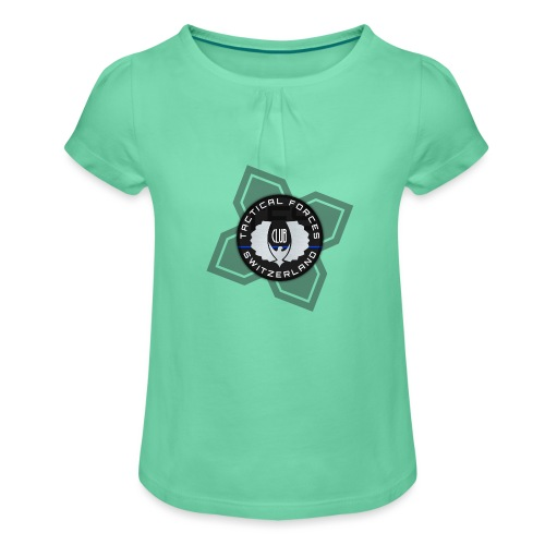 TFS Badge Black - T-shirt à fronces au col Fille