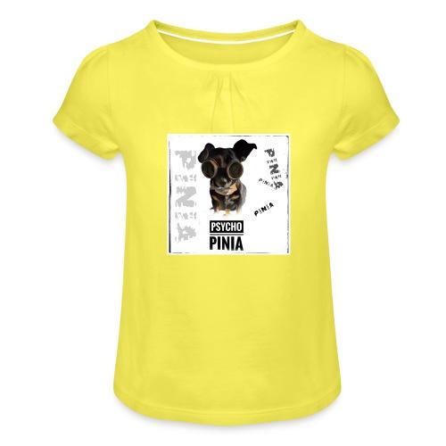 Psycho Pinia - Mädchen-T-Shirt mit Raffungen