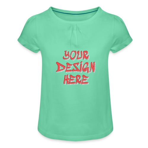 textfx - T-shirt med rynkning flicka