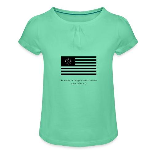 Transparent - Girl's T-Shirt with Ruffles