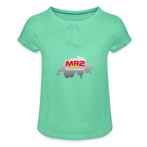 Logo MR2 Club Logo - Mädchen-T-Shirt mit Raffungen
