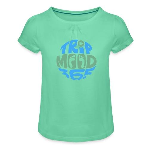 TRIPMOOD365 Traveler Clothes and Products- Colors - Tyttöjen t-paita, jossa rypytyksiä