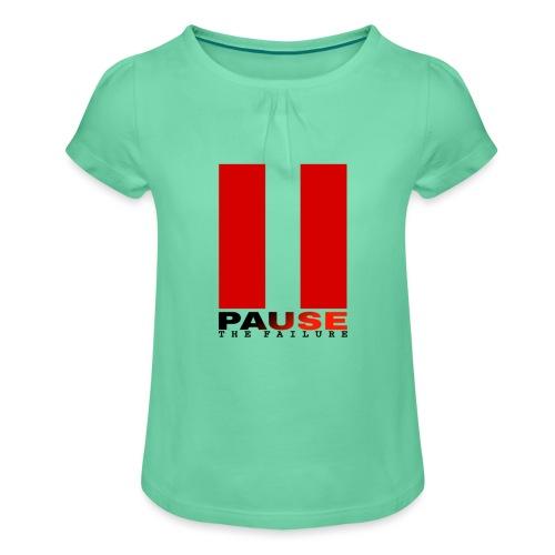 PAUSE THE FAILURE - T-shirt à fronces au col Fille