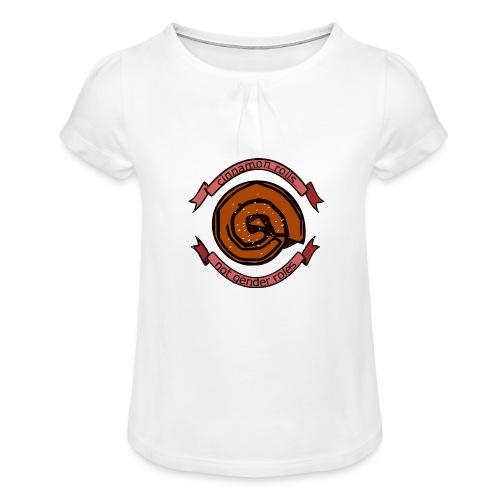 Cinnamon rolls - not gender roles - Pige T-shirt med flæser