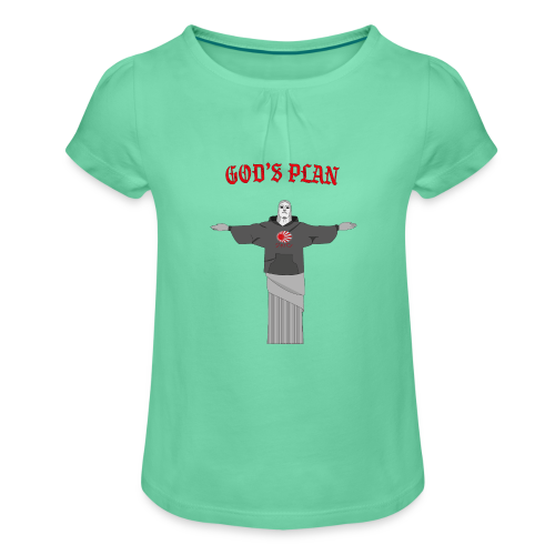 God's Plan - T-shirt à fronces au col Fille