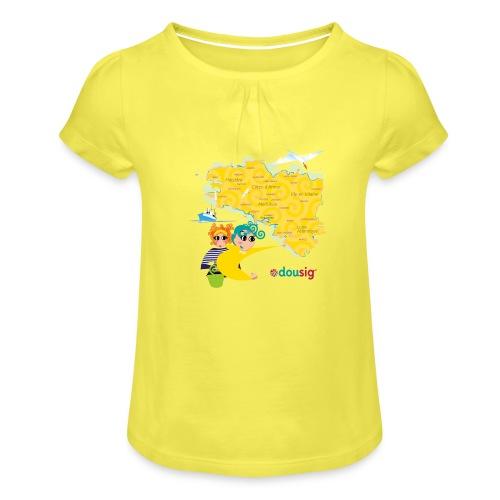 Carte de la Bretagne Dousig - T-shirt à fronces au col Fille