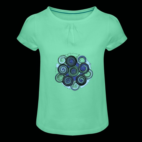 SPIRALE - Mädchen-T-Shirt mit Raffungen