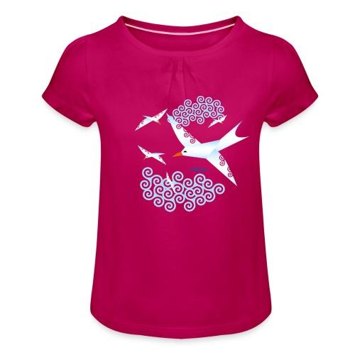 Mouettes dousig - T-shirt à fronces au col Fille