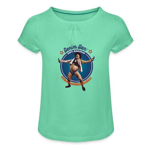 Denim Dan - T-shirt med rynkning flicka