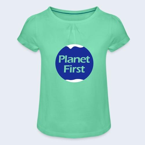 Planet First 2T - Meisjes-T-shirt met plooien