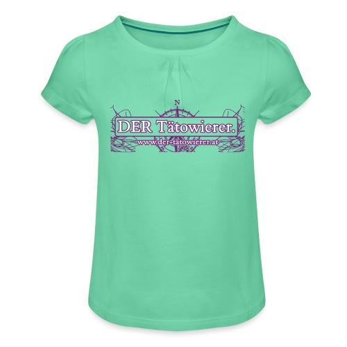 DER Taetowierer Logowear - Mädchen-T-Shirt mit Raffungen