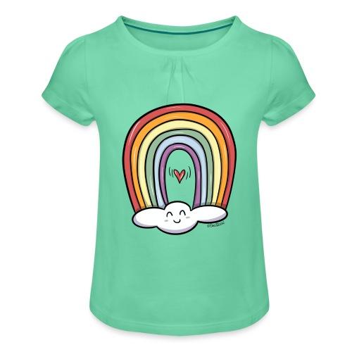 ARCOIRIS - Camiseta para niña con drapeado