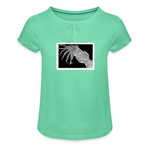 Cuttlefish - Girl's T-Shirt with Ruffles