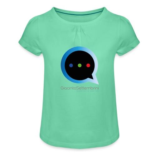 GS Model - Maglietta da ragazza con arricciatura