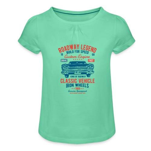 Roadway Legend - Meisjes-T-shirt met plooien