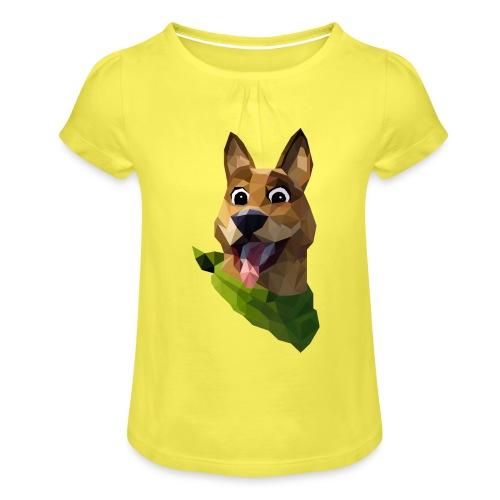 LOW POLY DOGO - T-shirt à fronces au col Fille