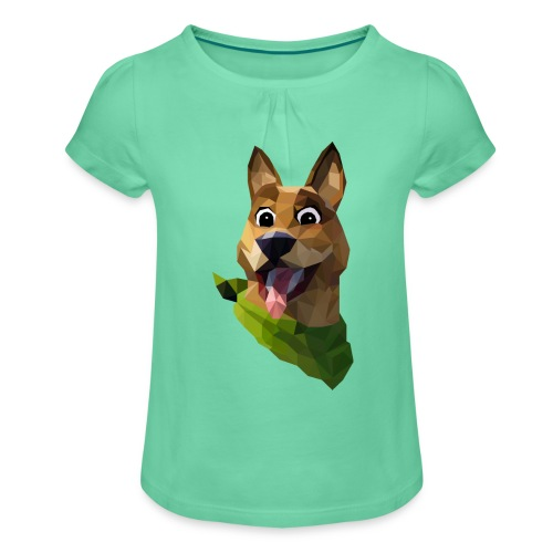 LOW POLY DOGO - T-shirt à fronces au col Fille
