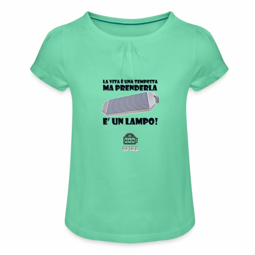 INTERCOOLER (nero) - Maglietta da ragazza con arricciatura