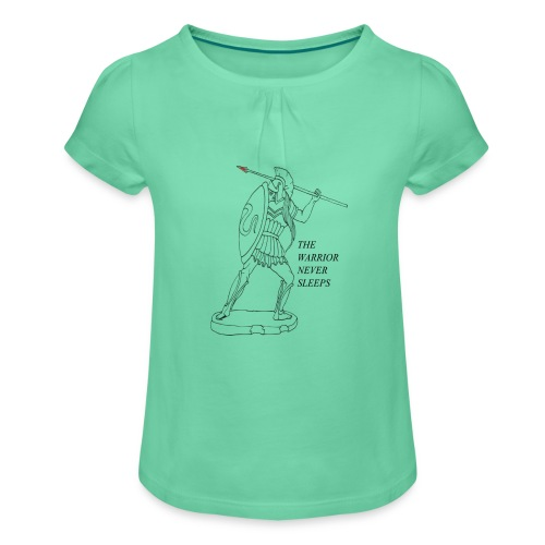 WARRIOR - Maglietta da ragazza con arricciatura