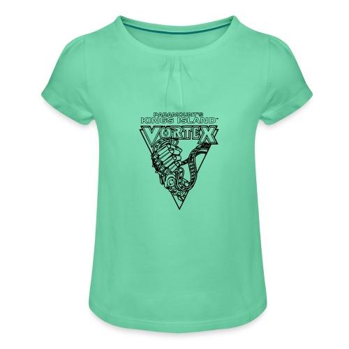 Vortex 1987 2019 Kings Island - Tyttöjen t-paita, jossa rypytyksiä