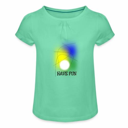 Have Fun - Girl's T-Shirt with Ruffles