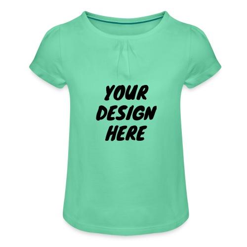 printfile front 9 - T-shirt med rynkning flicka
