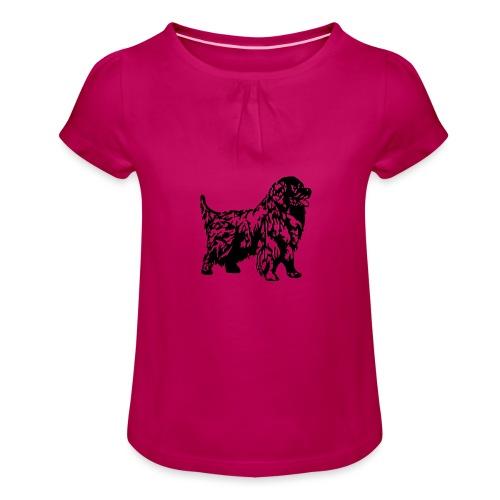 Neufundländer - Mädchen-T-Shirt mit Raffungen