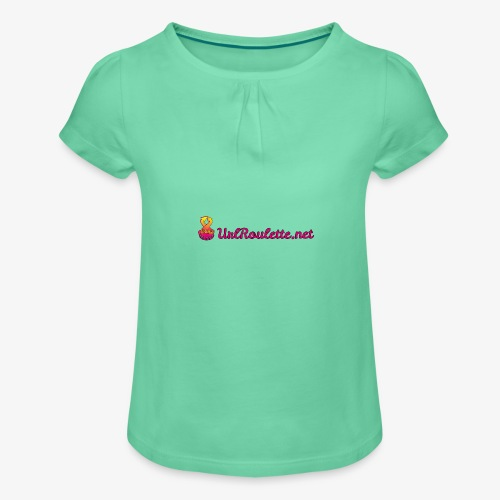 UrlRoulette Logo - Girl's T-Shirt with Ruffles