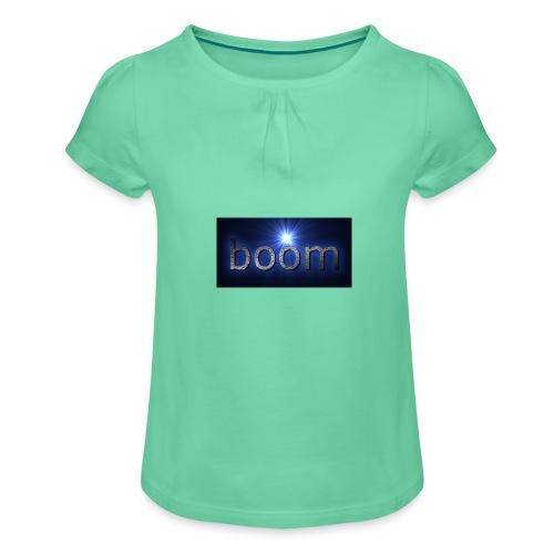 BOOOM - Koszulka dziewczęca z marszczeniami
