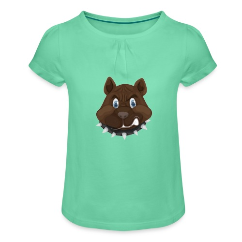 PERRO ENFADADO - Camiseta para niña con drapeado