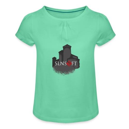 slnsoft - Tyttöjen t-paita, jossa rypytyksiä