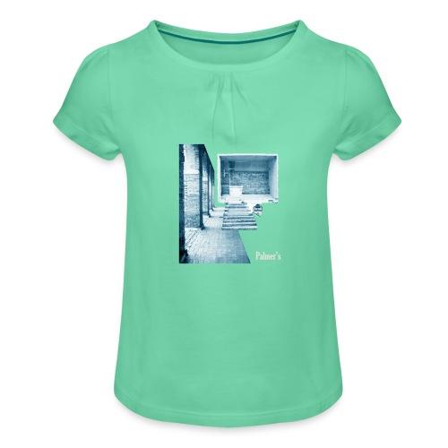 Antique - Camiseta para niña con drapeado