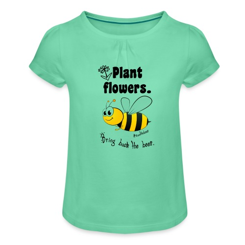 Bees8-2 Bringt die Bienen zurück! | Bookrebels - Girl's T-Shirt with Ruffles