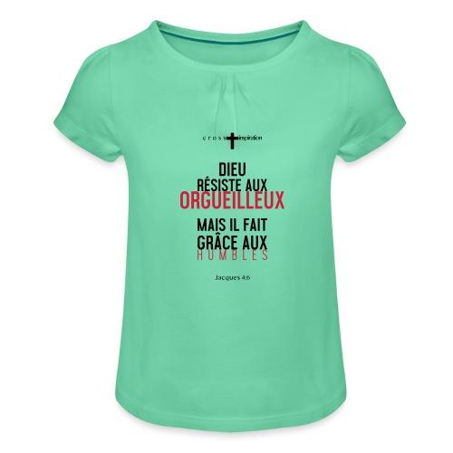 Humbles - T-shirt à fronces au col Fille