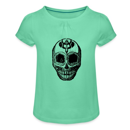 Skull of Discovery - Girl's T-Shirt with Ruffles